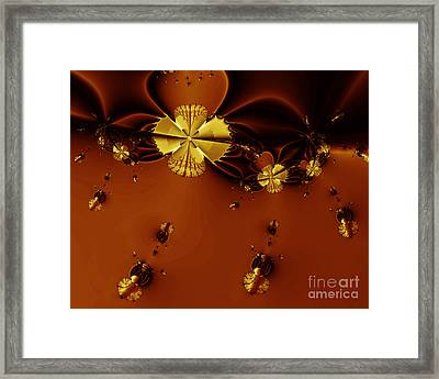 Bumble Beez Over Chocolate Lake . S19 Framed Print by Wingsdomain Art and Photography