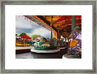 Bumper Cars Framed Print by Terri Waters
