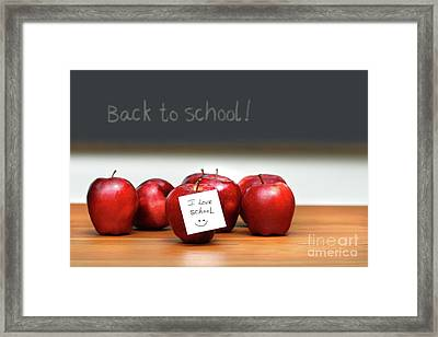 Bunch Of Red Apples Framed Print by Sandra Cunningham