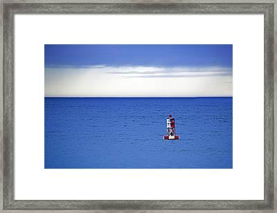 Buoy Off Bass Harbor Head Framed Print by Rick Berk