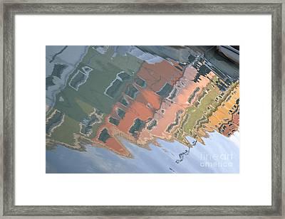 Burano House Reflections Framed Print by Rebecca Margraf