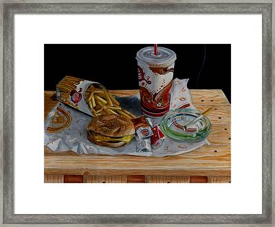 Burger King Value Meal No. 1 Framed Print by Thomas Weeks