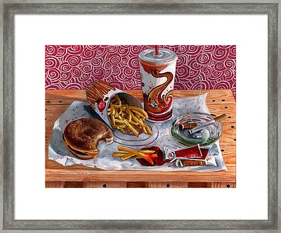 Burger King Value Meal No. 3 Framed Print by Thomas Weeks