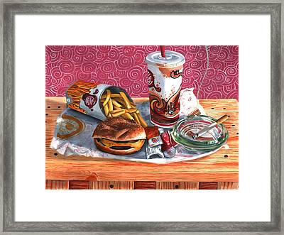 Burger King Value Meal No. 4 Framed Print by Thomas Weeks