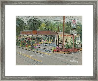 Burger's Market Framed Print by Donald Maier