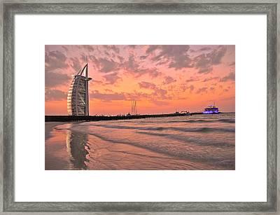 Burj Al Arab Dubai Framed Print by Anusha Hewage