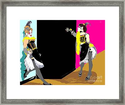 Burlesque Showgirls 2 Framed Print by Joanne Claxton