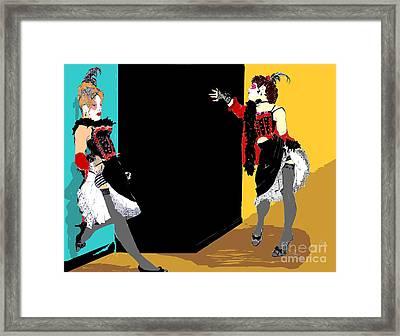 Burlesque Showgirls Framed Print by Joanne Claxton