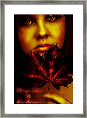 Burning-autumn Framed Print by Hend