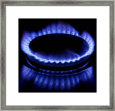 Burning Gas Framed Print by Fabrizio Troiani