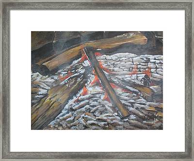 Burning Memories Framed Print by Cecile Smit