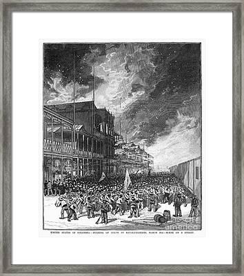 Burning Of Colon, 1885 Framed Print by Granger