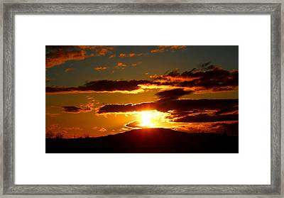 Burning Sky Sunset Framed Print by Brian Bielert