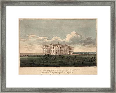 Burnt Out White House. A View Framed Print by Everett