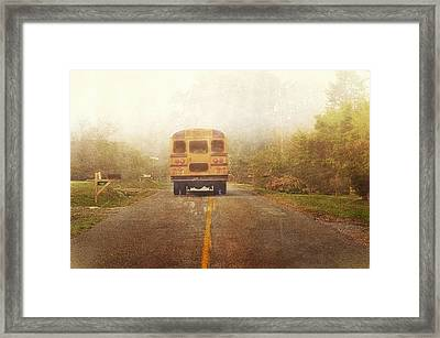 Bus Stop Framed Print by Kathy Jennings