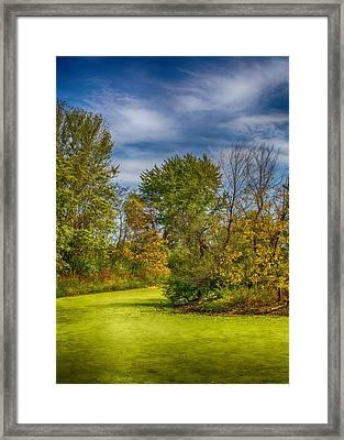 Busch Wildlife Swampy Autumn Framed Print by Bill Tiepelman