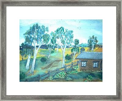 Bush Cabin Framed Print by Julie Butterworth