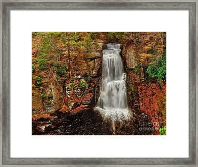 Bushkill Main Falls Framed Print by Nick Zelinsky