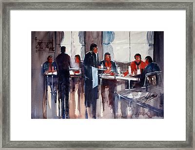 Business Lunch Framed Print by Ryan Radke