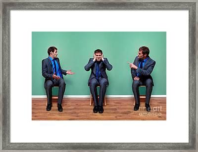 Businessman Argument Framed Print by Richard Thomas