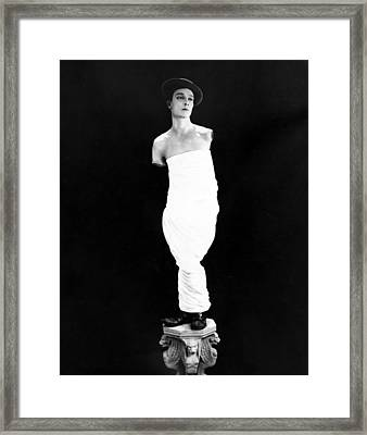 Buster Keaton, Ca. Early 1920s Framed Print by Everett