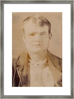 Butch Cassidy Was The Alias Of Robert Framed Print by Everett