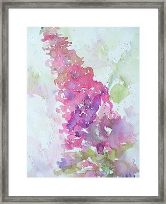 Butterfly Bush Plein Air Framed Print by Sandy Collier