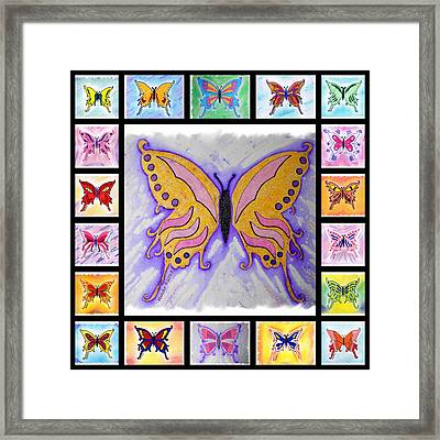 Butterfly Collage Framed Print by Mark Schutter
