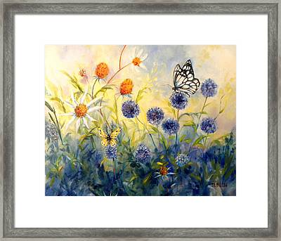 Butterfly Garden Framed Print by Peggy Wilson