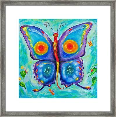 Butterfly In The Garden Framed Print by Melle Varoy