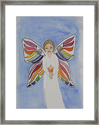 Butterfly People Sympathy Framed Print by DJ Bates