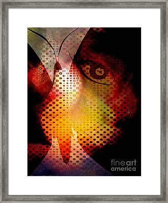 Butterfly She Framed Print by Fania Simon