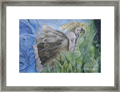 Butterfly Woman Costa Rica Framed Print by Bob Christopher