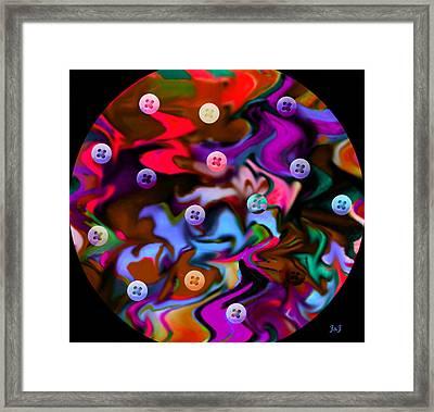 Button Moon Framed Print by Jan Steadman-Jackson