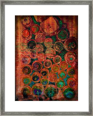 Buttons Framed Print by Ann Powell