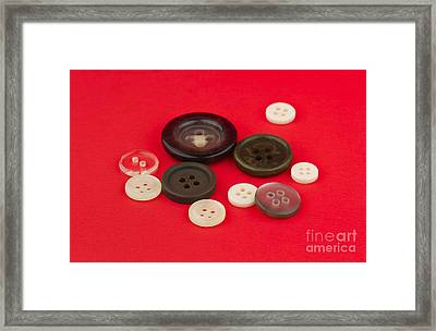 Buttons Framed Print by Blink Images