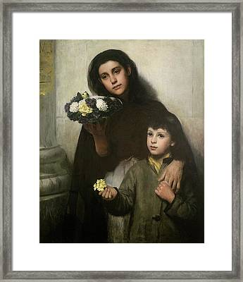 Buy A Bunch Of Pretty Flowers Framed Print by George Morton