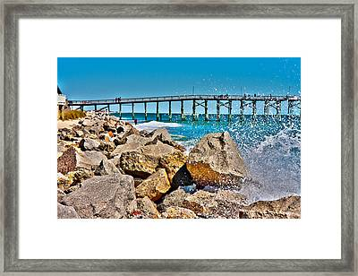 By The Pier Framed Print by Betsy Knapp