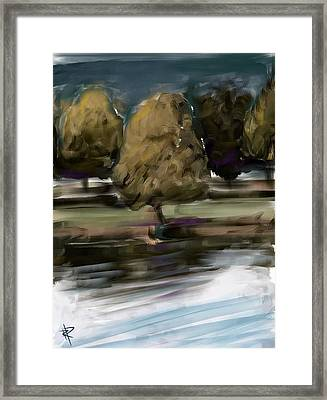 By The River Framed Print by Russell Pierce