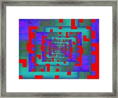 Byte Byway Framed Print by Tim Allen