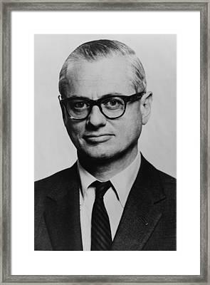 C. L. Cyrus Leo Sulzberger 1912-1993 Framed Print by Everett