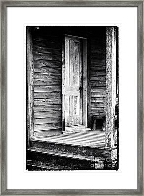 Cabin Door Framed Print by John Rizzuto