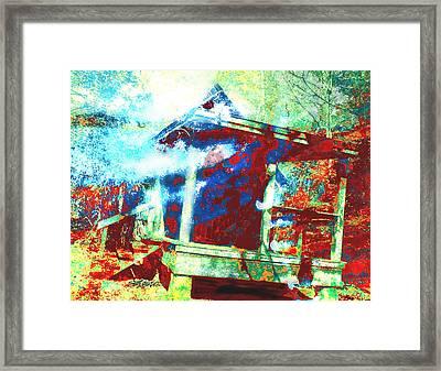 Cabin In The Fog Framed Print by Seth Weaver