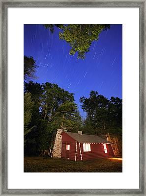 Cabin In The Woods Framed Print by Gordon Dean II