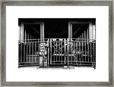 Caboose Framed Print by Kenneth Mucke
