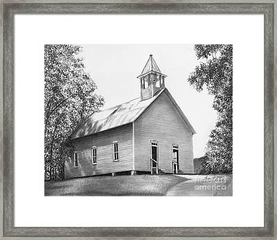 Cades Cove Methodist Church Framed Print by Lena Auxier