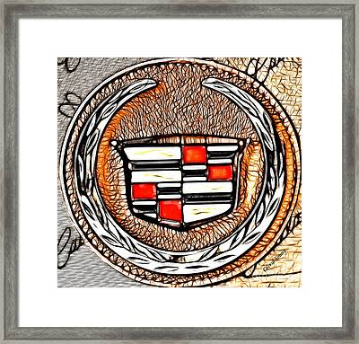 Cadillac Framed Print by Cheryl Young