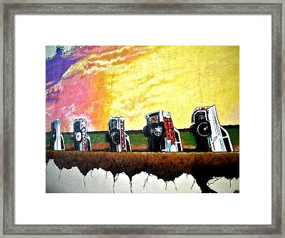 Cadillac Ranch - Montreal Framed Print by Juergen Weiss