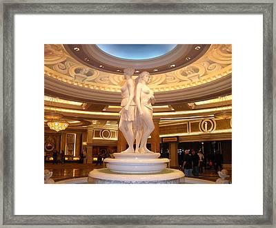 Caesar's Palace Framed Print by Megan Davis