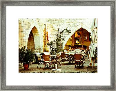 Cafe France Framed Print by Georgia Fowler